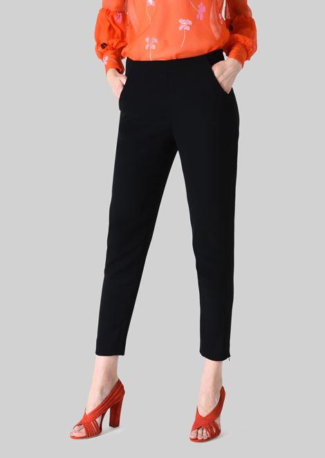 CLASSIC SILK CADY SWEATPANTS: Pants Women by Armani - 1