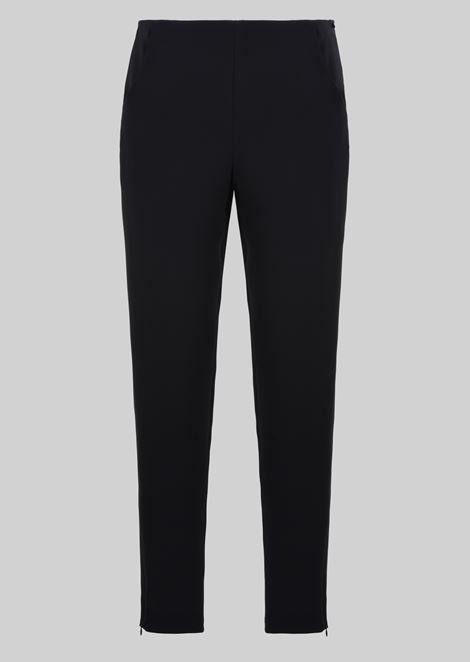 CLASSIC SILK CADY SWEATPANTS: Pants Women by Armani - 2