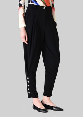 Armani Pants Women tapered wool trousers