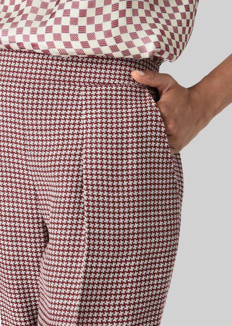 SILK AND WOOL CRÊPE TROUSERS: Pants Women by Armani - 5