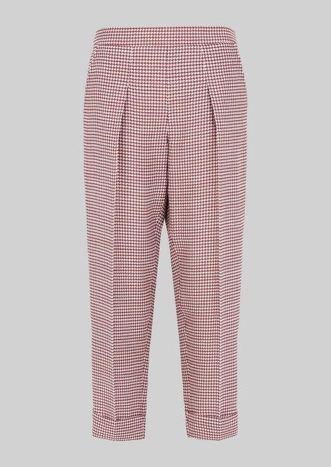 SILK AND WOOL CRÊPE TROUSERS: Pants Women by Armani - 2