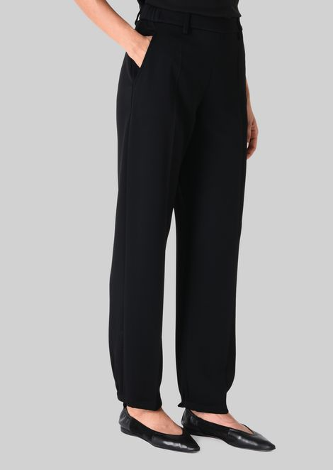 CLASSIC TROUSERS IN TECHNICAL FABRIC: Pants Women by Armani - 3