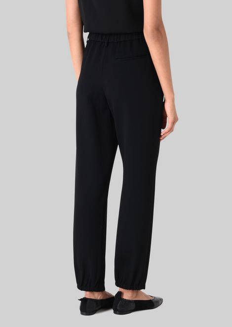 CLASSIC TROUSERS IN TECHNICAL FABRIC: Pants Women by Armani - 4