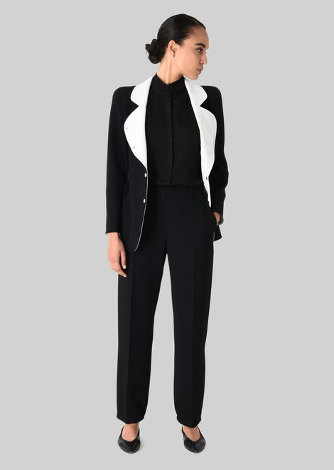 CLASSIC TROUSERS IN TECHNICAL FABRIC: Pants Women by Armani - 1