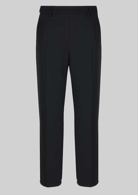 CLASSIC TROUSERS IN TECHNICAL FABRIC: Pants Women by Armani - 2