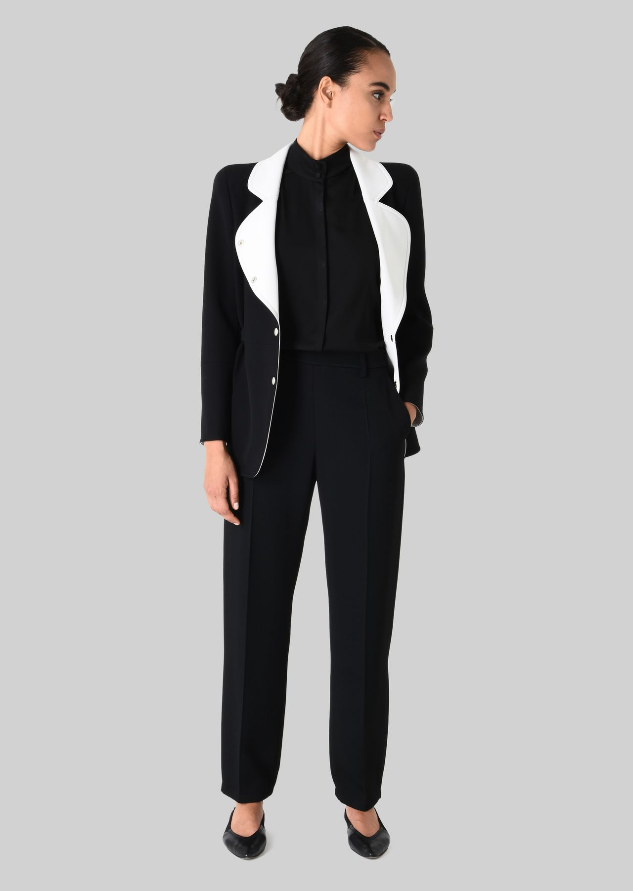 CLASSIC TROUSERS IN TECHNICAL FABRIC: Pants Women by Armani - 0