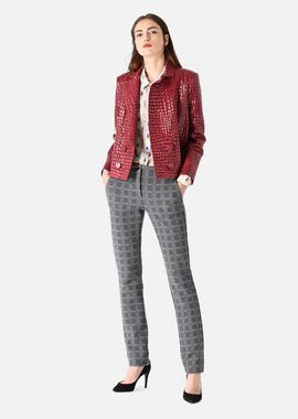 Armani Casual Pants Women bi-stretch trousers embossed with check motif
