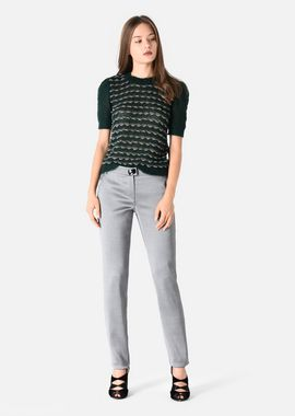 Armani Casual Pants Women slightly stretch wool blend trousers