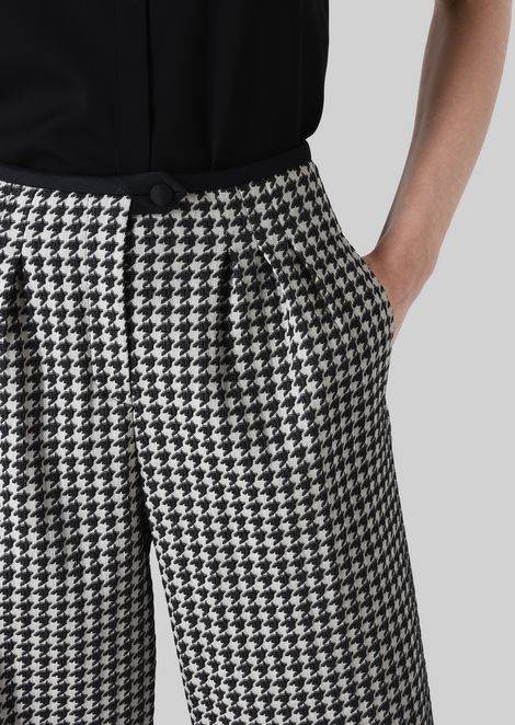 JACQUARD CROPPED TROUSERS: Pants Women by Armani - 5