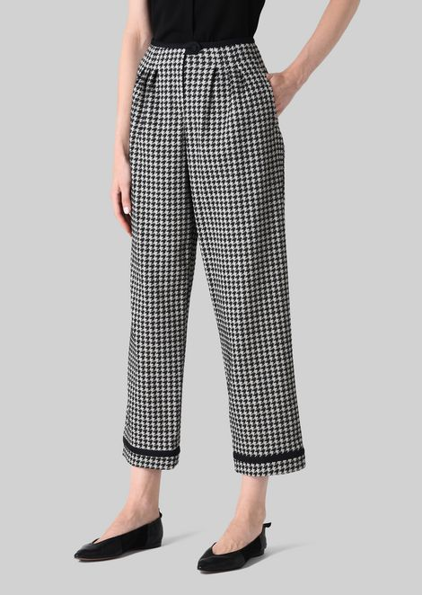 JACQUARD CROPPED TROUSERS: Pants Women by Armani - 3