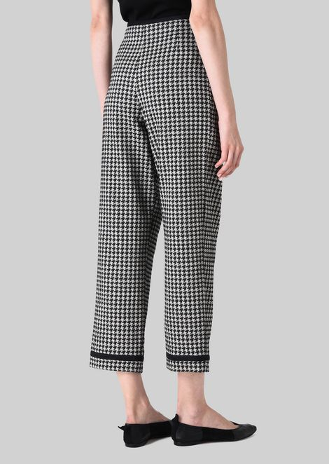 JACQUARD CROPPED TROUSERS: Pants Women by Armani - 4