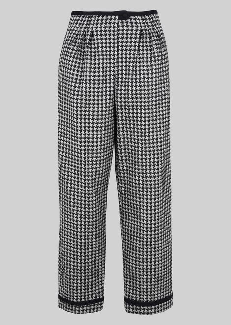 JACQUARD CROPPED TROUSERS: Pants Women by Armani - 2