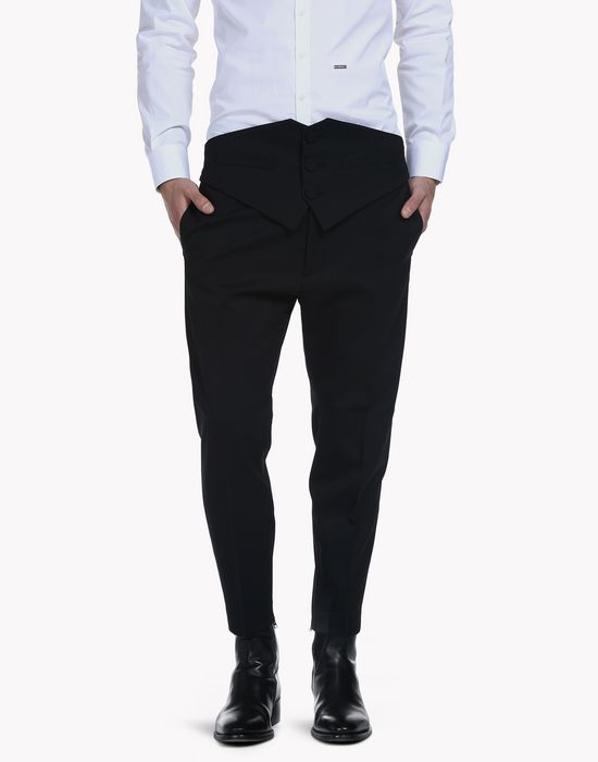 wool glam pants trousers Man Dsquared2