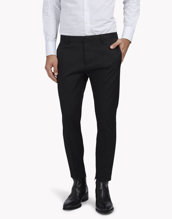 stretch wool skinny dan pants pantalones Hombre Dsquared2