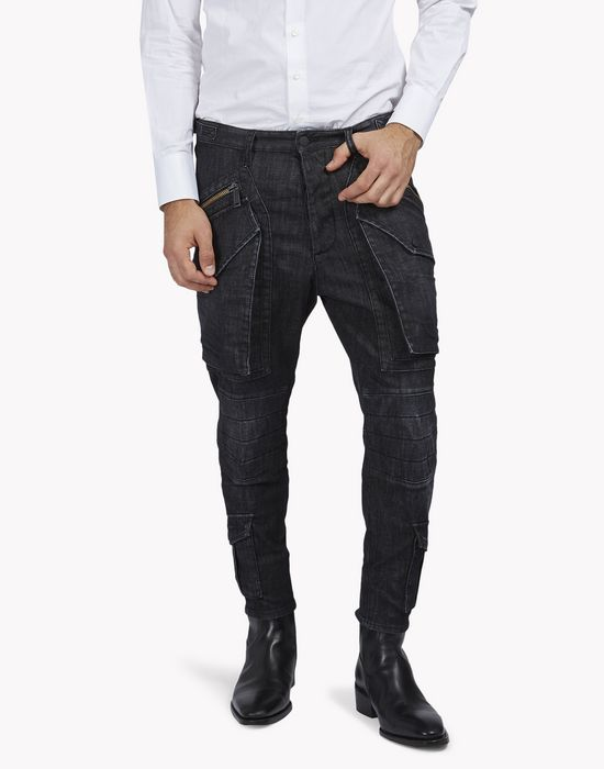 hockney biker pants pants Man Dsquared2