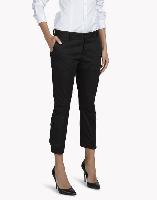 sexy cropped flare pants pantaloni Donna Dsquared2
