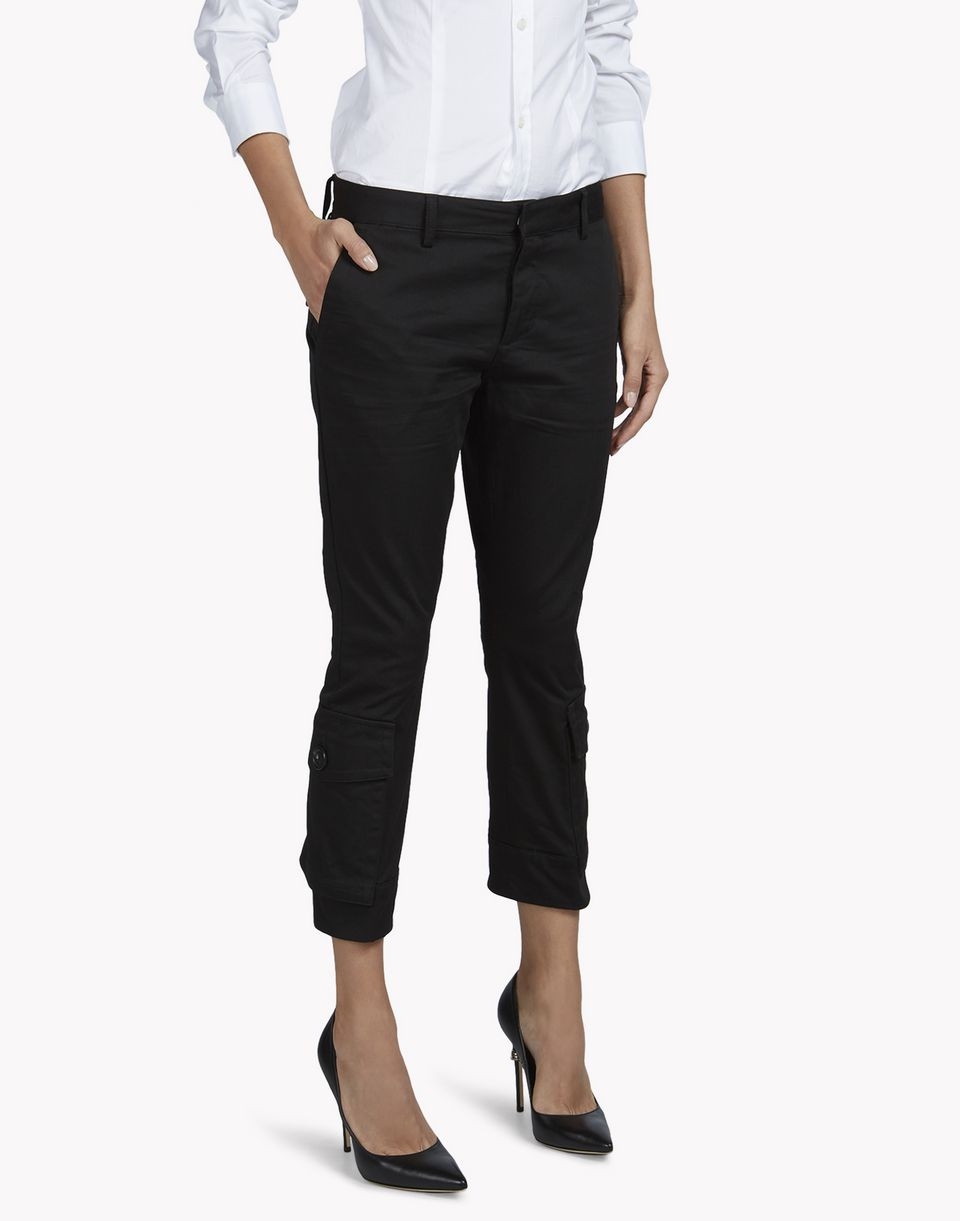 sexy cropped flare pants trousers Woman Dsquared2