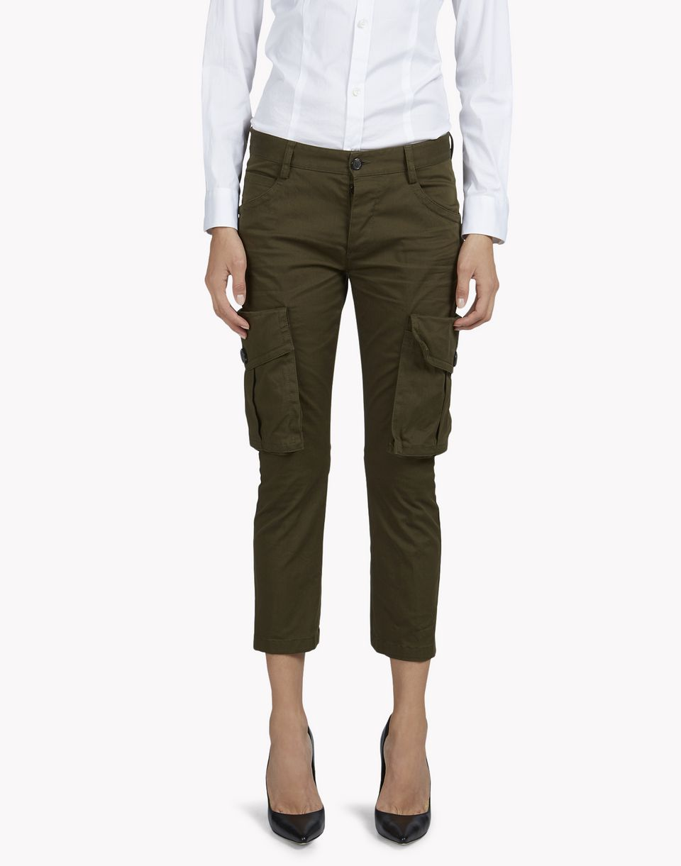 sexy cropped flare cargo pants pants Woman Dsquared2