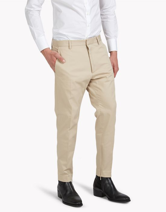 stretch cotton long glam pants trousers Man Dsquared2