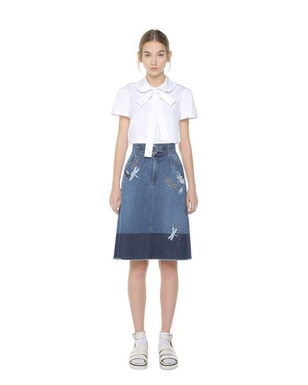 REDValentino 半裙 女士 PR3DD02E3HC 558 f