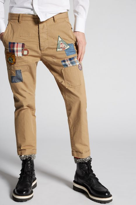 scout patch hockney pants pants Man Dsquared2
