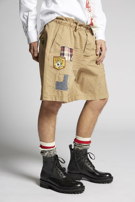 scout patch cotton chino shorts брюки Для Мужчин Dsquared2