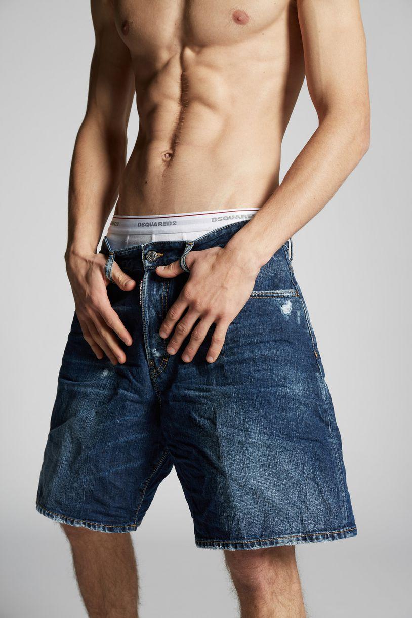 denim shorts trousers Man Dsquared2