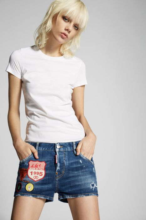 cool girl shorts with patches pantaloni Donna Dsquared2