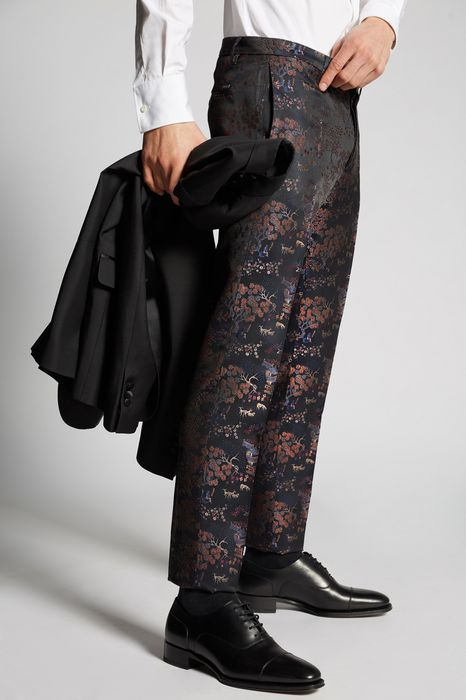 chinoiserie jaquard pants pants Man Dsquared2