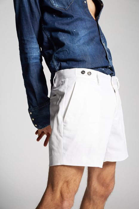 stretch twill cotton tennis shorts trousers Man Dsquared2