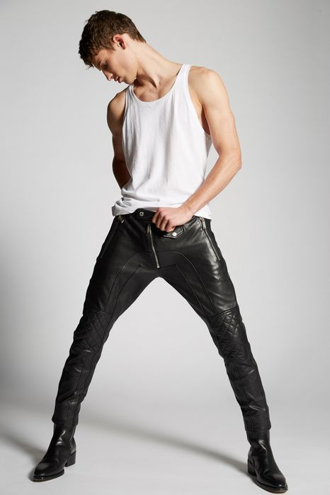 leather pants pants Man Dsquared2