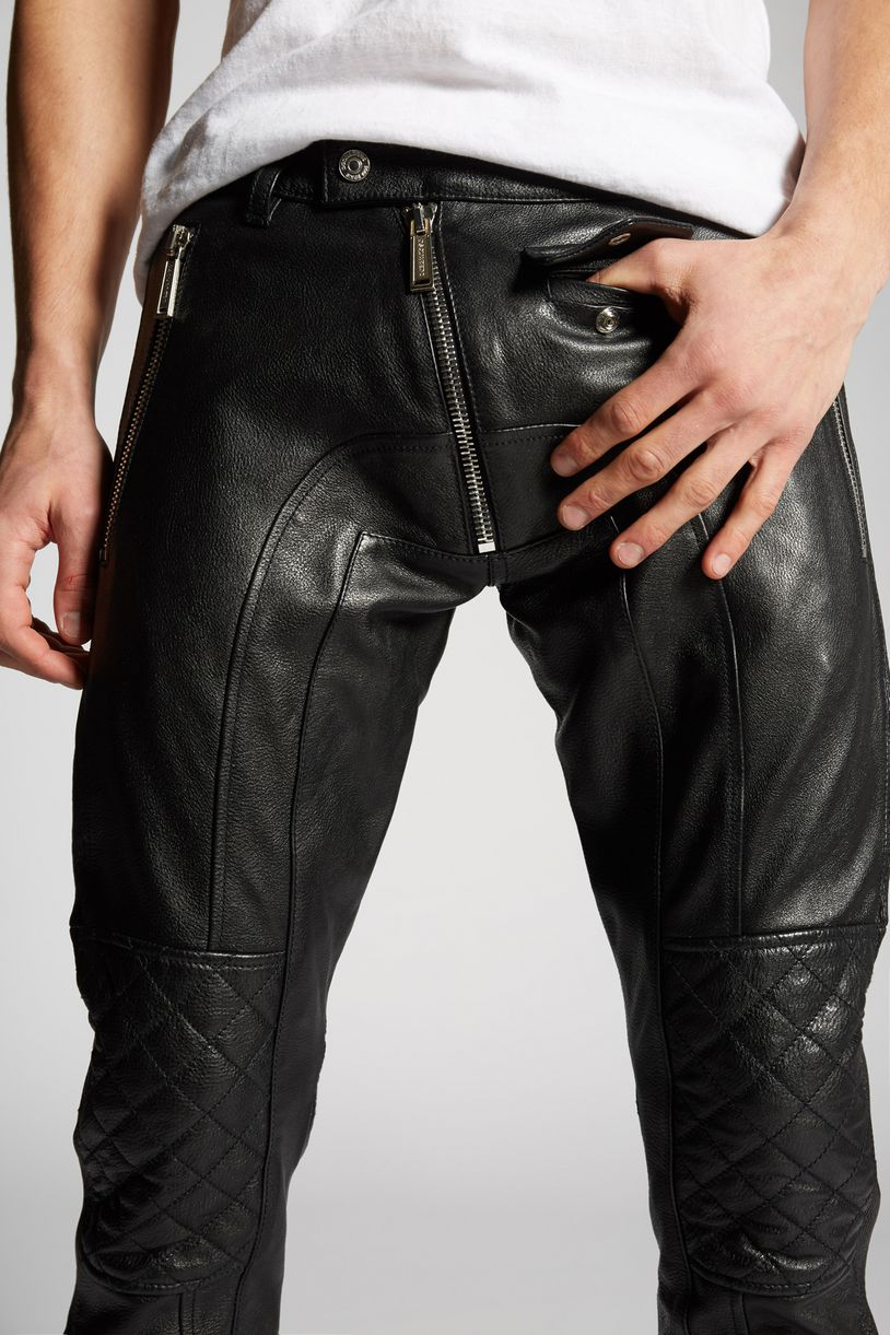 leather pants trousers Man Dsquared2