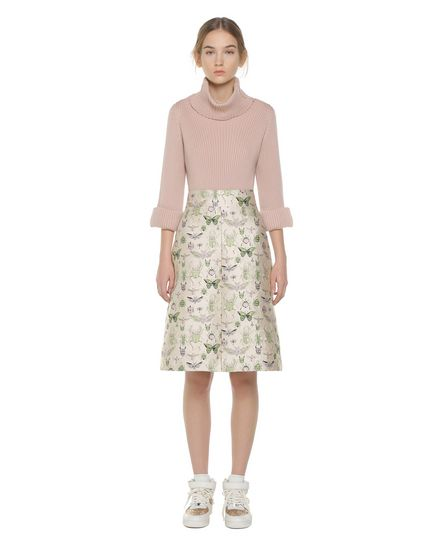 """""""Insects"""" brocade A-line skirt"""