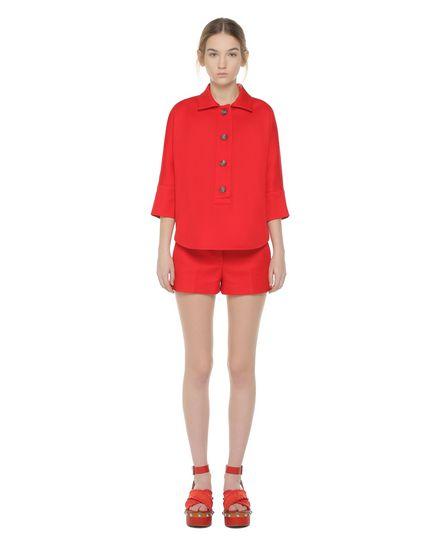 Safari-inspired cotton cady shorts