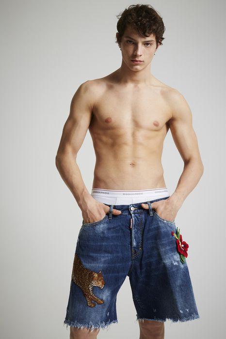 butch boxer denim shorts pants Man Dsquared2