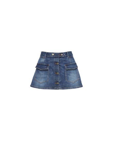 Safari-inspired denim shorts