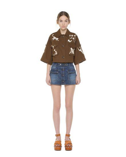Shorts di Denim di ispirazione Safari