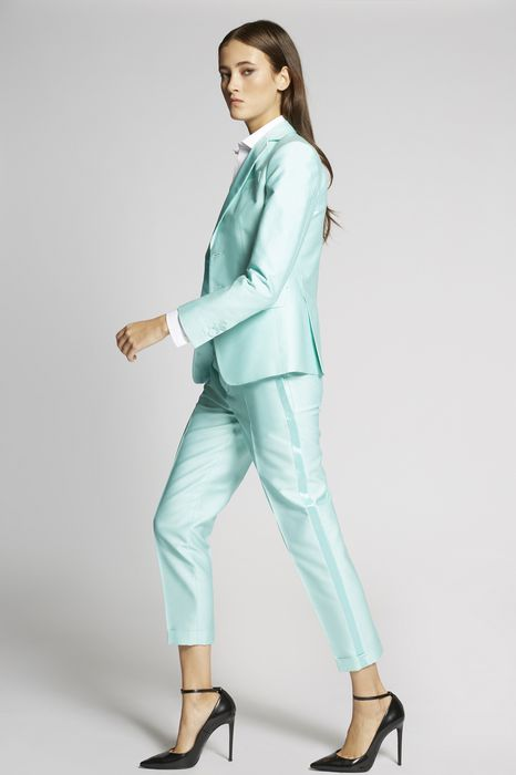 silk cotton tux hockney pants trousers Woman Dsquared2