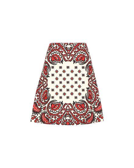 Bandhana 印纹棉质小卵石纹织物 A 字半裙