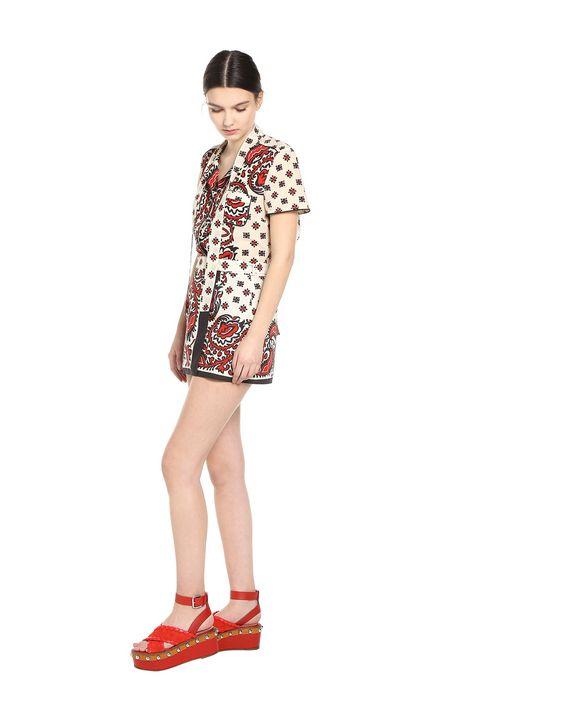 REDValentino Bandana-print cotton poplin shorts