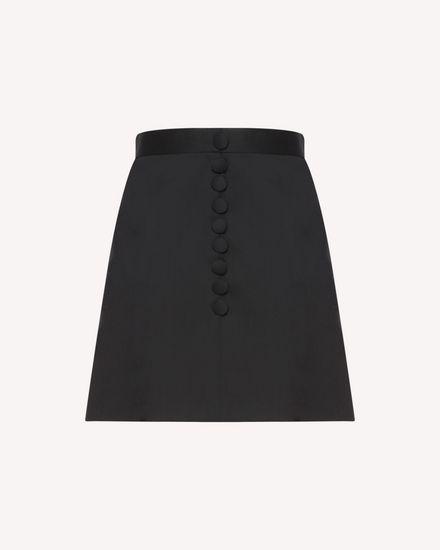 Stretch Wool Gabardine skirt with button detail