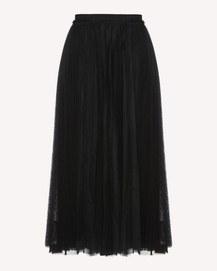 Point d'esprit Tulle pleated skirt