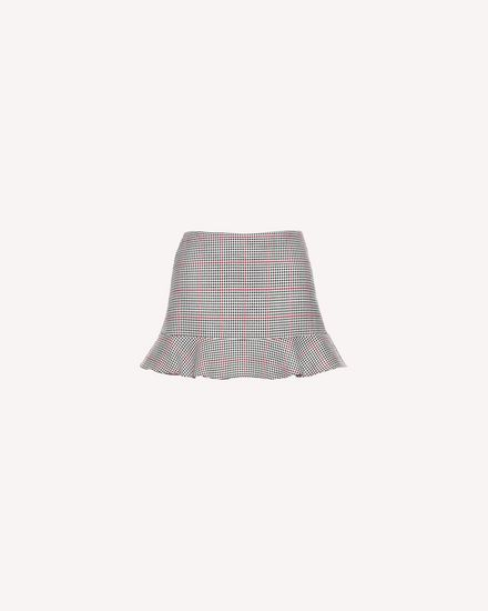 Ruffle detail Windowpane shorts