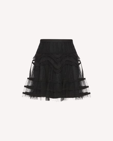 Tubulars and lace embroidered Tulle skirt