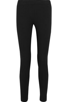 조셉 레깅스 블랙 JOSEPH Stretch-cotton twill leggings,Black