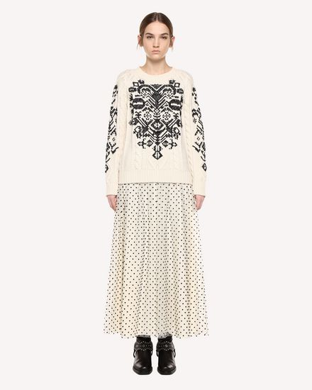羊驼毛植绒薄纱半裙