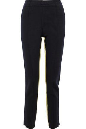 조셉 JOSEPH Striped neoprene slim-leg pants,Midnight blue