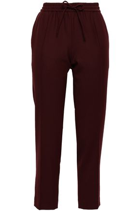 조셉 JOSEPH Twill pintucked tapered pants,Merlot