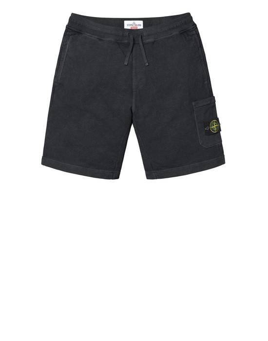 Black Stone Island Fleece Shorts