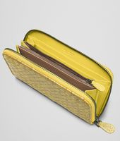New Chartreuse Intrecciato Ayers Livrea Zip Around Wallet